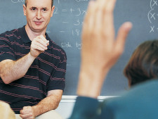 Teacher calls on student with very confused look