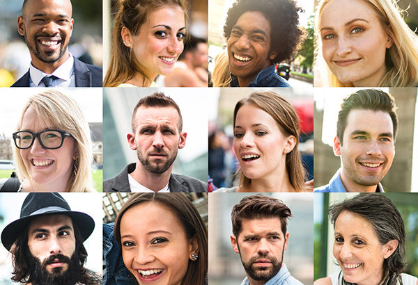 Collage of people represent diverse group of students