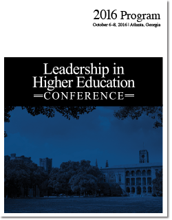 2016 Leadership in Higher Education Conference program