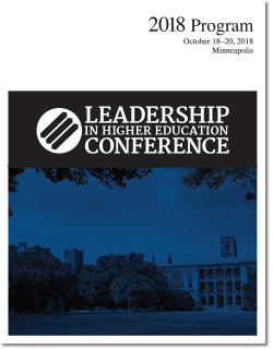 2018 Leadership in Higher Education Conference program