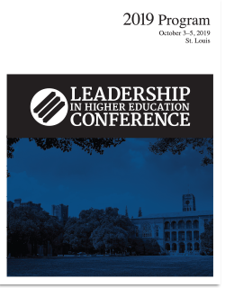 2019 Leadership in Higher Education Conference program