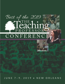 Best of the Teaching Professor Conference 2019