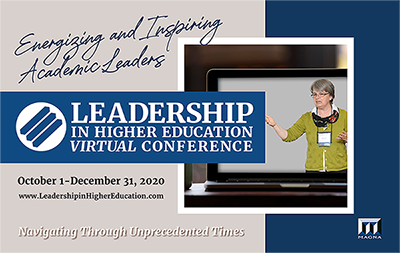 Leadership in Higher Education Conference brochure