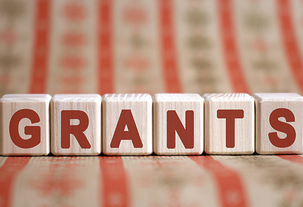 blocks spelling out the word grants