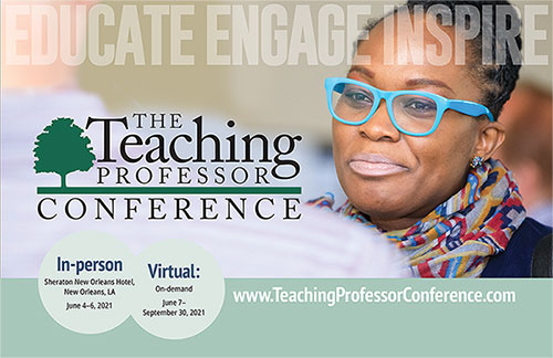 The Teaching Professor Conference 2021 brochure