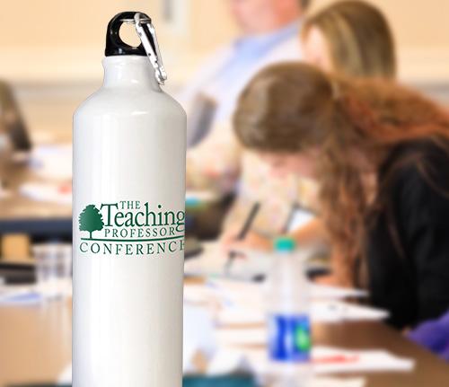 Teaching Professor Conference logo water bottle