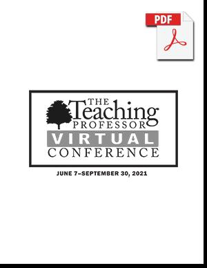 The Teaching Professor Virtual Conference program cover