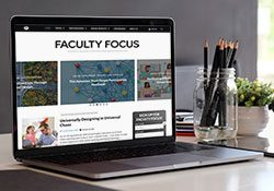 Faculty Focus on laptop