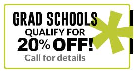 Grad schools 20 percent off
