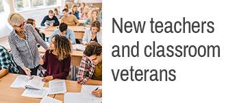 New teachers and classroom veterans
