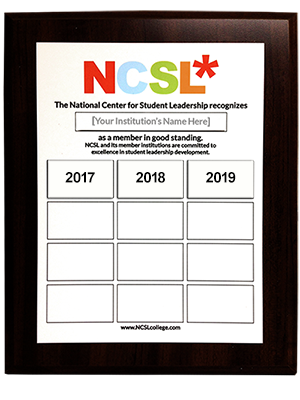 NCSL Membership plaque